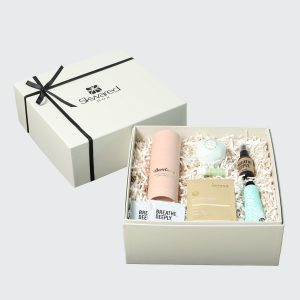 Gift box with pamper products