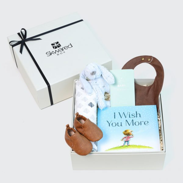 Gift box with baby boy products
