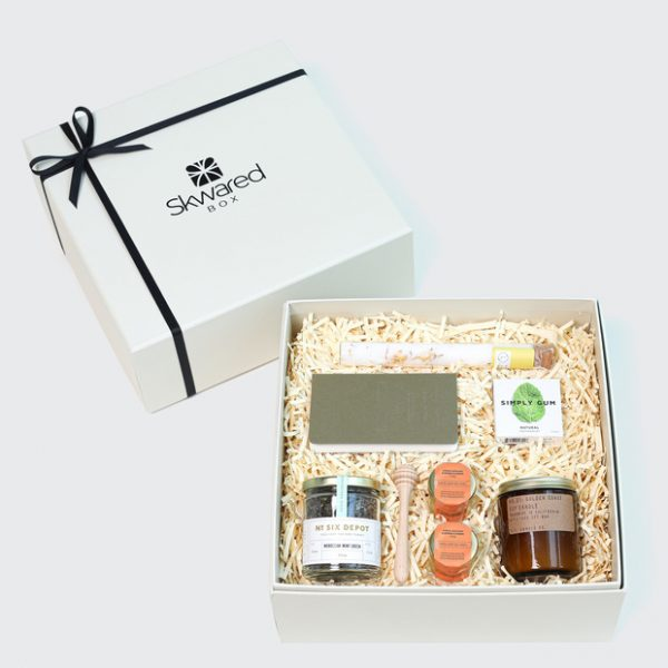 Gift box with get well soon products
