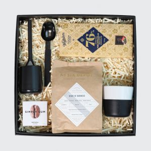 Gift box with coffee products