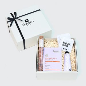 Gift box with spa products