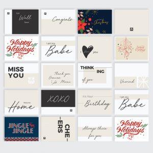 Skwared Box Cards + Christmas