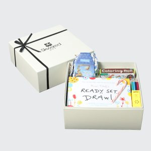 gift box with young kids products