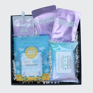 gift box with wellness products